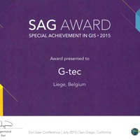 Special Achievement AWARD for G-tec Geographic Information System